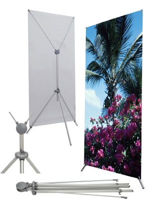 X2 Adjustable Banner Stand