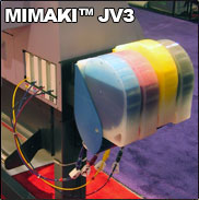 Mimaki JV3 Bulk Ink System with Chip Resetter (4-color)